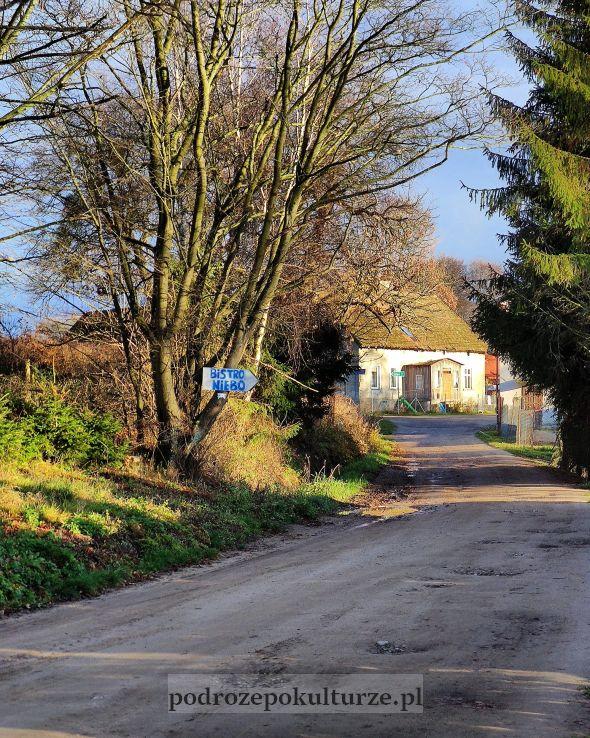 wieś Wieprz nad Jeziorakem poniemieckie zabudowania