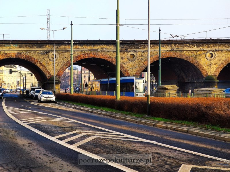 Krakowski Szlak Techniki wiadukt kolejowy nad ulicą Dietla