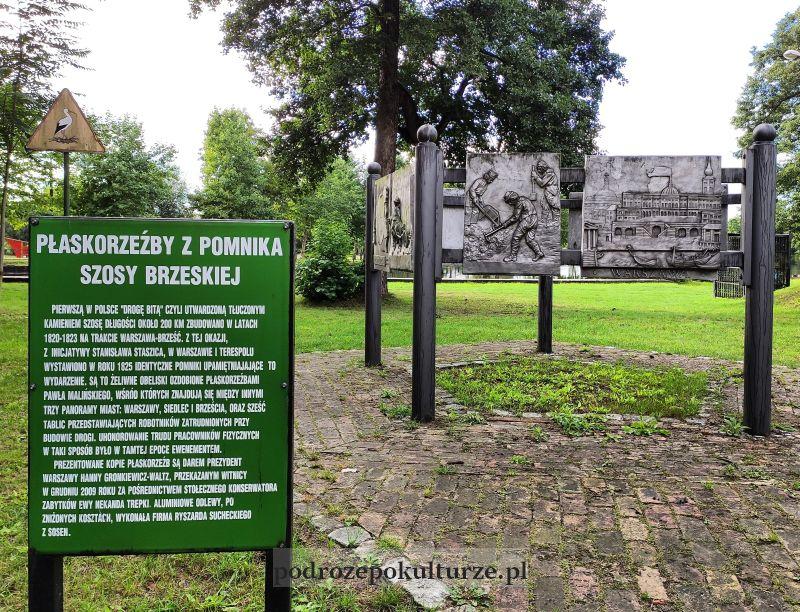 pomnik szosy brzeskiej. Park drogowskazów i słupów milowych cywilizacji