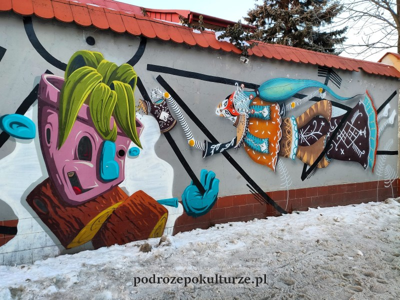 Mural na Dębnikach. Street art