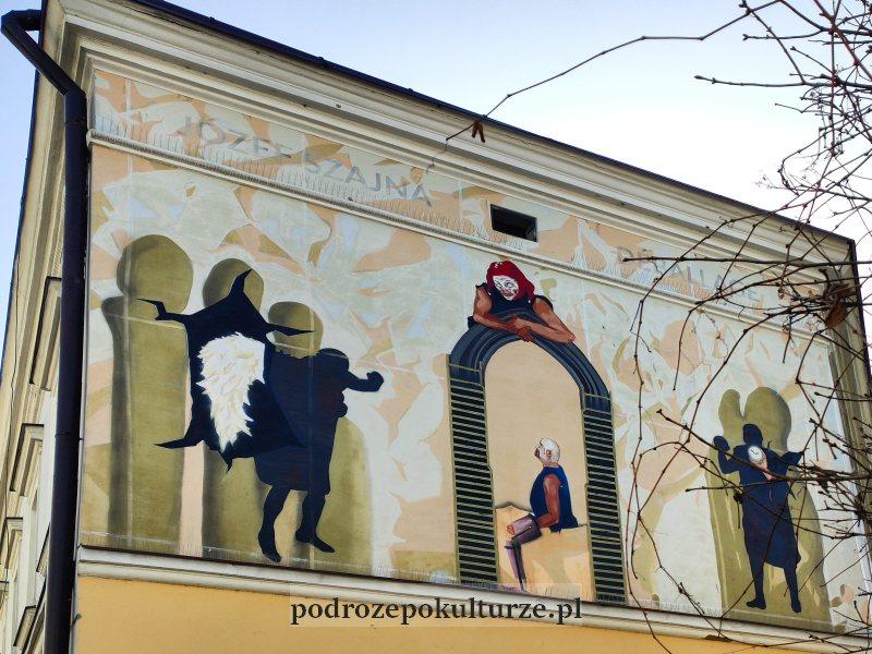 Street art w Rzeszowie. Mural Deballage według Józefa Szajny