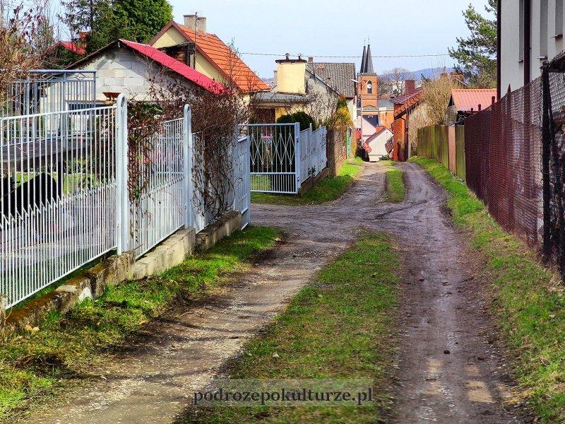 Łanowy układ ulic w Krzeszowicach
