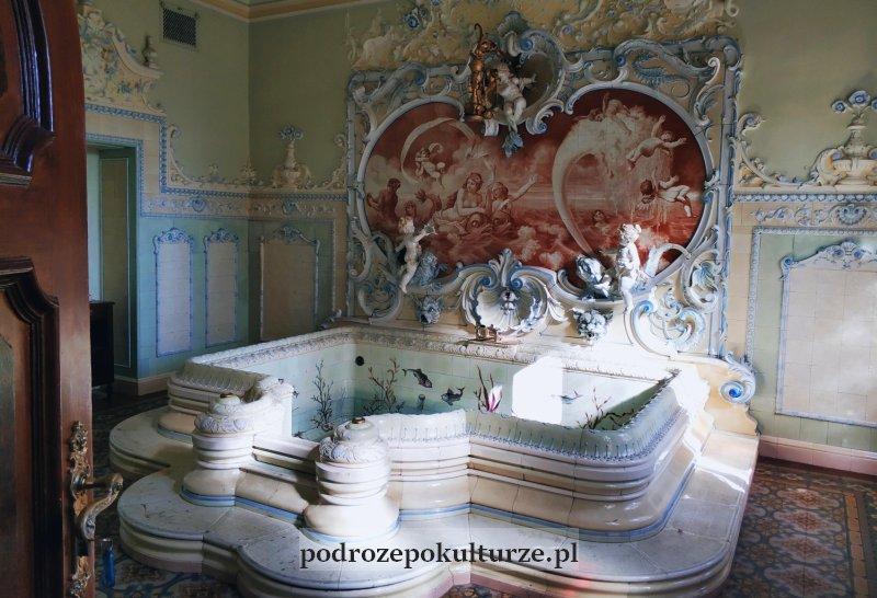 nieznane atrakcje Polski pałac Dietla w Sosnowcu pokój kąpielowy