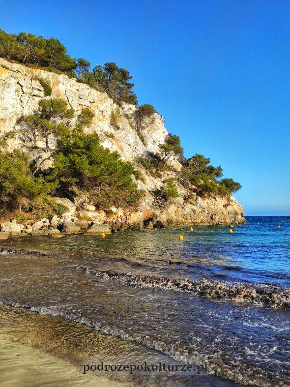 Plaża Cala Marcella na Minorce