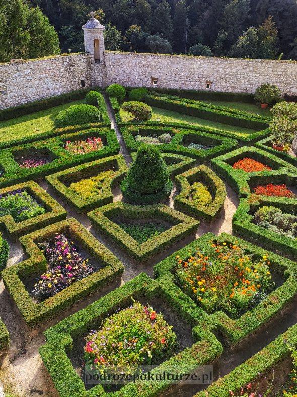 Ogród renesansowy zamku Pieskowa Skała
