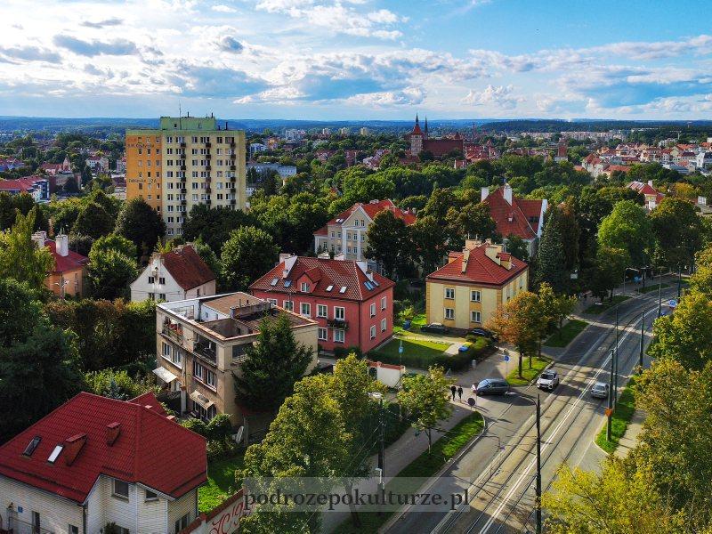 widok z tarasu widokowego obserwatorium astronomicznego w Olsztynie