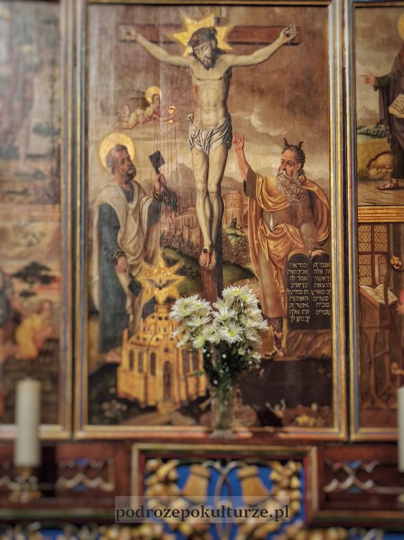tryptyk Ukrzyżowania Olsztyn Mojżesz z rogami